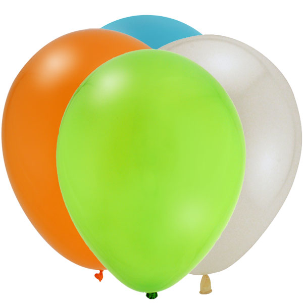 Latex balloons in multiple colours.